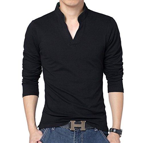 Black-Polo-T-Shirts-Full-Sleeves-Tshirts-for-Men