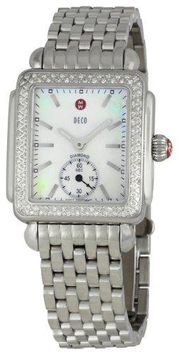 Michele Femme Diamant Déco en acier inoxydable montre MWW06V000001