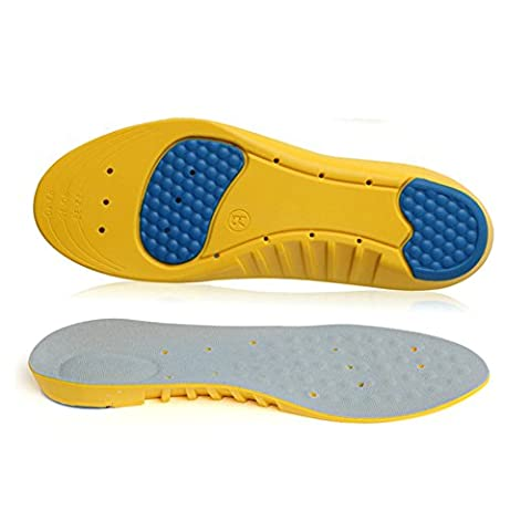 VEASTI Sport Shoe Insoles Inserts Comfort with Gel Heel Cup