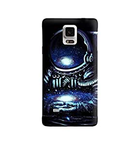 The Fappy Store space man plastic back cover For Samsung note 4
