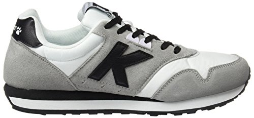 Kelme K-37, Sneaker Basse Uomo Grigio (Bianco / Nero)