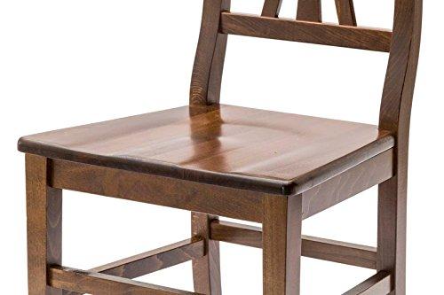 White loft set di 2 sedie legno noce 46x44x90 cm