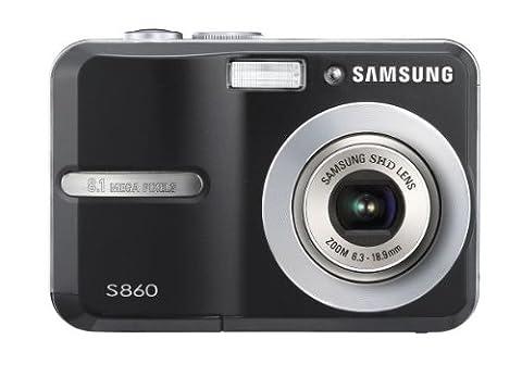 Samsung S860 Digitalkamera (8 Megapixel, 3-fach opt Zoom, 6,1 cm (2,4 Zoll) Display) schwarz