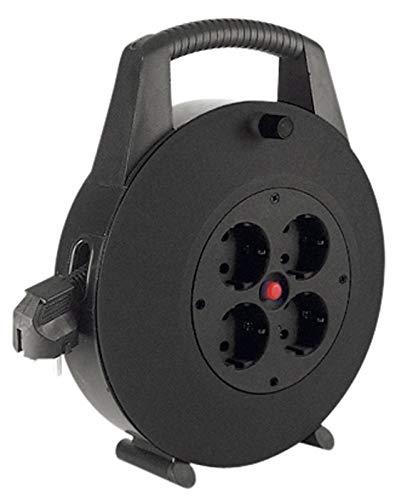 Bachmann 393.002 Kabelbox 4-fach 10m mit Thermoschutzschalter, 3600 W, 250 V, Schwarz