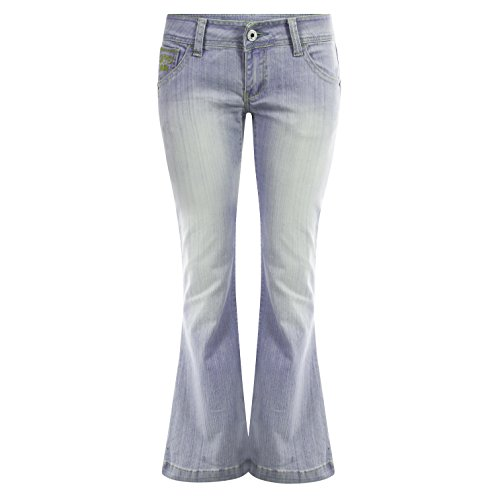 New Ladies Boot Cut Wide Leg Flared Flare Jeans Hipster Retro Pants UK 6-14
