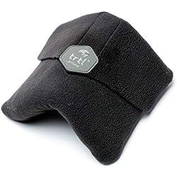 Trtl Pillow - Oreiller de Voyage Ultra Doux offrant Un Soutien de Cou scientifiquement prouvé - Lavable en Machine - Noir