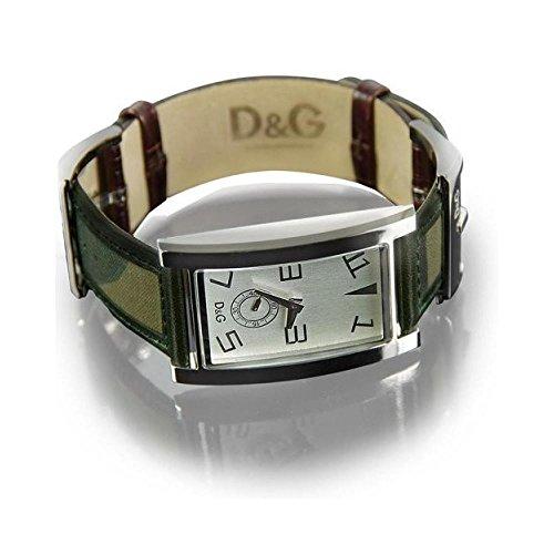 D & G Dolce & Gabbana DW0019–Orologio da uomo, cinturino in pelle