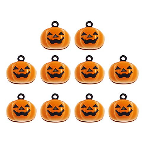 SUPVOX 10pcs Kürbis Glocken Kürbis Charms Anhänger für Schmuckstücke Armband Halskette Zubehör Halloween Dekoration (Halloween-basteln Mit Mini-kürbisse)