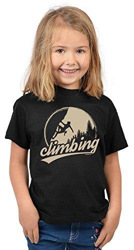 Bergesteiger Sprüche Kinder T-Shirt Wander Shirt : Climbing - Kindershirt Klettern Berge T-Shirt Gr: L = 146-152