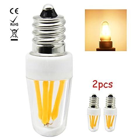 1819®E12 LED Lampe, 2W LED Birnen, Ersatz für 20W Halogen Lampen, globaler 360° Abstrahlwinkel Warm Weiß 3000 K AC220-240V 200lm CRI >80, 2 Pack [Energieklasse A+]