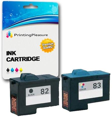 2 Druckerpatronen für Lexmark X5100, X5130, X5150, X5190, X5200, X6100, X6150, X6170, X6190 Pro, X65, Z55, Z55se, Z65, Z65n, Z65p | kompatibel zu Lexmark No. 82 & No. 83 Lexmark Tintenpatronen X6170