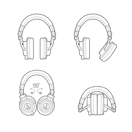 Audio Technica ATH-M50x DJ-Kopfhörer für Studio - 11
