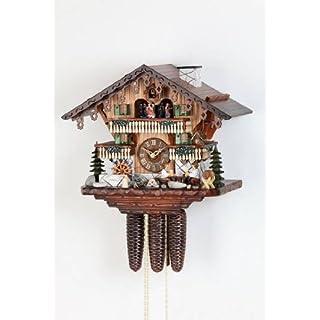 Kuckucksuhr/Schwarzwalduhr Chalet-Kuckucksuhren Kuckucksuhr 8-Tages-Uhrwerk Chalet-Stil 34cm von Hekasoriginal aus dem Schwarzwald von Hekas