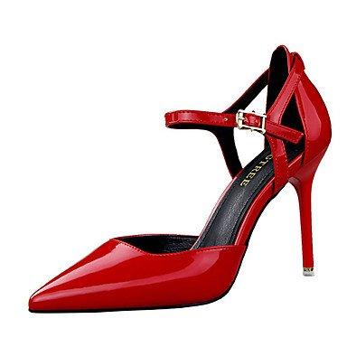 Moda Donna Sandali Sexy donna tacchi tacchi estate pu Casual Stiletto Heel altri nero / rosso / Argento / nudo / Beige Altri nude