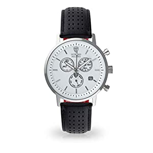 Detomaso Milano Hombre Reloj de Pulsera analógico Cuarzo silbernes Caja