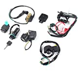 Oyamihin Professional Motorcycle Cdi Wiring Harness Loom Ignition Solenoid Coil Rectifier for 50Cc-125Cc Pit Quad Dirt Bike ATV