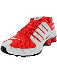 half off c6836 73106 Nike Shox NZ 378341-106 White Light Crimson Platinum Grey Men s Running  Shoes