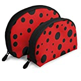 Ladybug Red Animals Wildlife Customized Portable Bags Clutch Pouch Storage Bag Cosmetic Bag Purse...