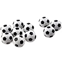 Homiki 6 pequeños balones de fútbol, estilo de fútbol de mesa, de plástico Duro, balones de mesa, homologados, Juego, Juguete de Niños