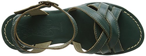 FLY London Geza941, Talon Compensé   Femme Vert (Nile Green 002)