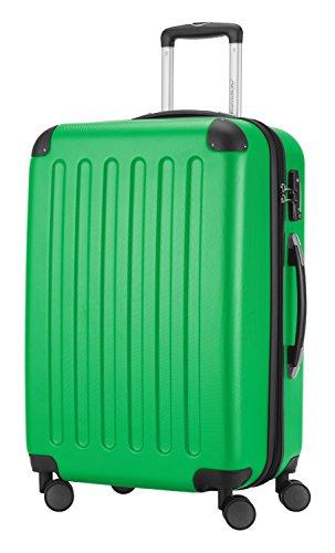 HAUPTSTADTKOFFER® Hartschalen Koffer SPREE 1203 · SET · MATT · TSA Zahlenschloss · + GEPÄCKGURT (Burgund) Apfelgrün