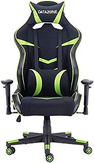 كرسي ألعاب بمسند لرقبة والظهر لراحة اللاعب اللون اسود / اخضر