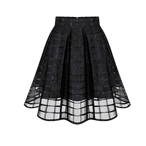 litalily-Tutu Gonna Sottoveste Tutu di Balletto Gonna in Tulle Strati Sottogonna Balletti Petticoat Tutu con Cintura per Festa Party (Black, L)