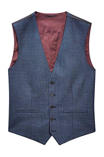 next Homme Gilet De Costume Texturé Bleu