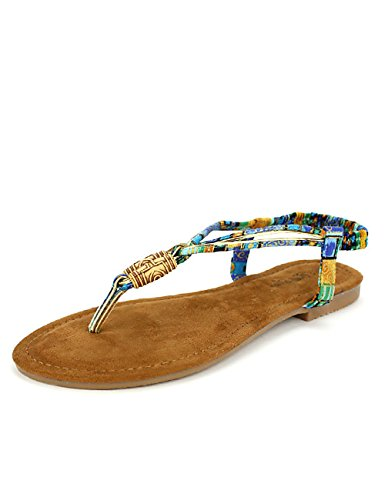 Cendriyon Tong Multicolore Bello Moda Chaussures Femme Multicolore