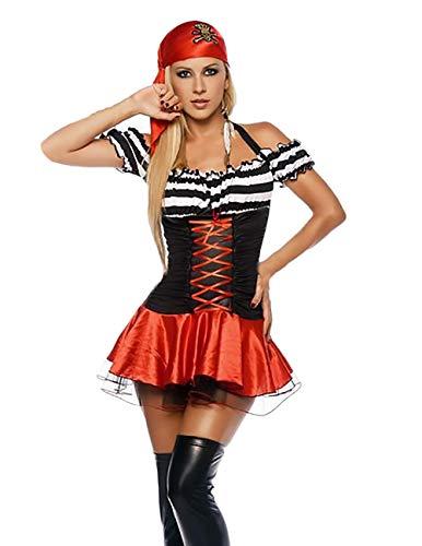 Saoye Fashion Piratenkostüm Damen Cosplay Outfit Halloween Kostüm Vintage Gothic Kostüm Pirat Mädchen Kleidung Faschingskostüme Karnevalskostüme