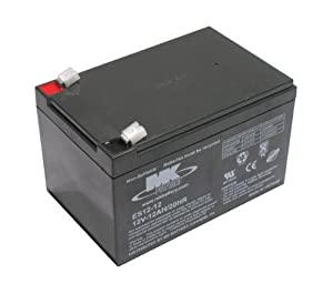 Pair of 12V 12Ah MK Sealed Lead Acid (AGM) Mobility Scooter Batteries (ES12-12) (One Colour / One Size)