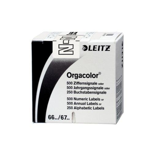 Leitz Orgacolor Rectángulo redondeado Color blanco - Etiqueta autoadhesiva (Color blanco, Rectángulo redondeado, 30 x 23 mm, 73 x 73 x 30 mm, 60 g)
