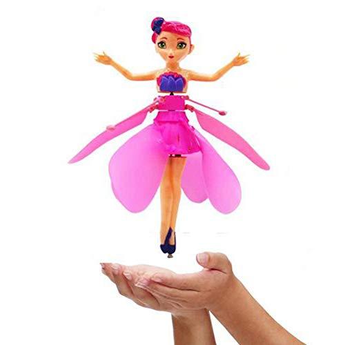 Gereton Flying Fairy Doll Fliegende Fee Puppe Mit Lichter Automatische Sensor Induktion Hubschrauber Kinder Spielzeug Ballett Mädchen Fliegen Prinzessin