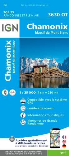 Chamonix / Massif du Mont Blanc par Institut Géographique National