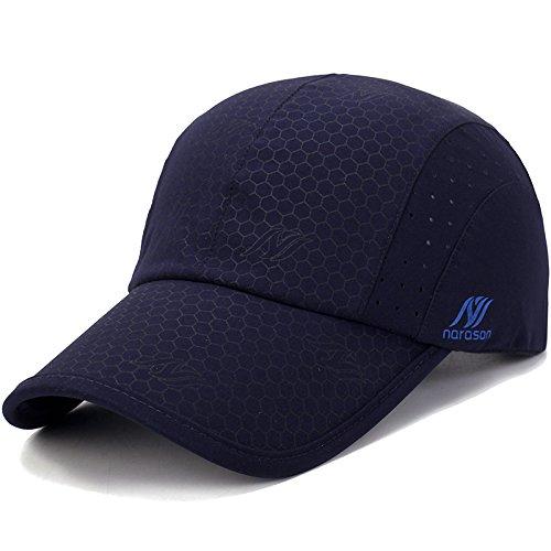KimTime verstellbar Mütze Schnelltrocknende Schirmmütze UV-Schutz Kappe für Herren und Damen Sommer - Mesh-back Baseball Kappe