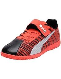 Puma Kids-Unisex ONE 5.4 IT V Jr Black-Nrgy Red