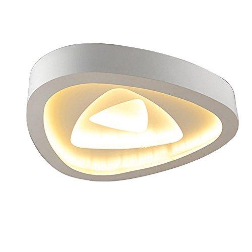 Desinger LED Deckenleuchte Leuchten Schlafzimmer Persönlichkeit Decke Light Artistic Kreativität Warm Romantischen Wohnzimmer Helle Und Moderne Lampen, Große Weiß 2-Tone-Kwong (Größe : 50cm) -