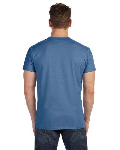 Hanes Mens Nano-T V-Neck T-Shirt Vintage Denim