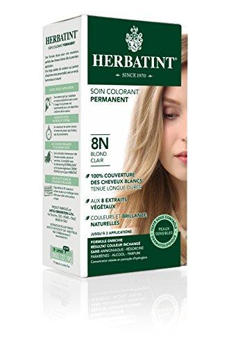 Herbatint - erbe Haircolor permanente Gel 8N biondo chiaro - 4,5 oz.