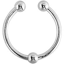 TDi Body Jewellery Piercing Falso Redondo, Acero quirúrgico, Clip con Bola 1,2