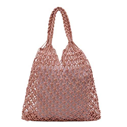 AYALY Frauen Hohl Tote Stroh Umhängetasche Große Hobo Woven Handmade mit Innenbeutel Reißverschluss Mesh Taschen Sommer Strand Handtasche -