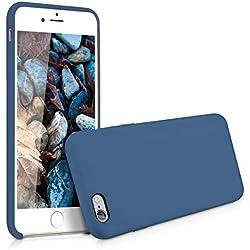 kwmobile Coque Apple iPhone 6 Plus / 6S Plus - Coque pour Apple iPhone 6 Plus / 6S Plus - Housse de téléphone en Silicone Bleu foncé