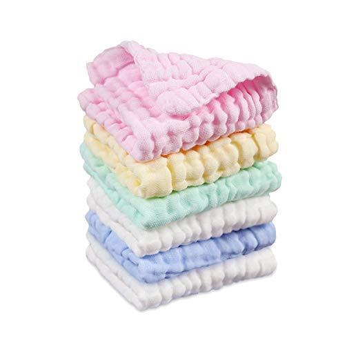 Musselin Waschlappen Baby Weiche Natürliche Baumwolle Handtuch, 6er Set 30x30 cm -
