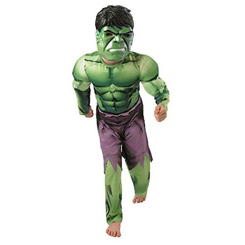 Kostüm Kind Hulk Muskeln - Rubie's Hulk Kinder Kostüm Overall mit Muskel-Brust und Maske Gr.L