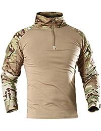 7VSTOHS Chemises à Manches Longues pour Hommes Sports de Plein air Chasse  Randonnée Shooting Shirts Chemises 8747c5babbf
