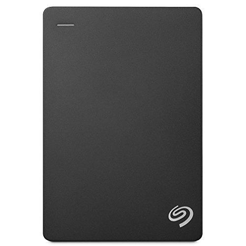Seagate Backup Plus Slim Disco Duro Externo Portátil de 5 TB para PC y Mac USB 3.0 Negro 2.5