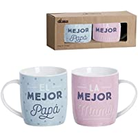 """Juego de Tazas Mug original """"Papa y Mama"""""""