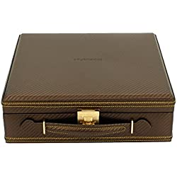 friedrich|23 Unisex Watch Box For 12 Watches Fine Synthetic in Carbon Look Brown 32054 8
