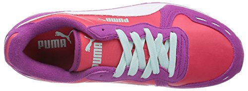 Puma Cabana Racer Sl Jr, Baskets Basses mixte enfant Violet - Violett (vivid viola-geranium-white 32)