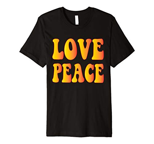 Peace Love T-Shirt 60s 70s Tie Dye Hippie Kostüm Shirt
